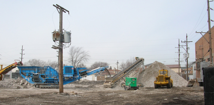 On-Site Recycling  - Bechstein Construction Corporation